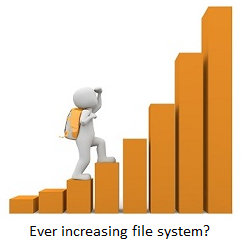 Ever increasing file system.